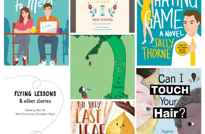 Book Covers: Would Like To Meet, The Art Of Making Memories, The Hating Game, Flying Lessons and Other Stories, The Giving Tree, The Very Last Leaf, Can I Touch Your Hair?