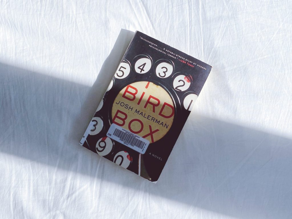 Bird Box book by Josh Malerman against a white background.