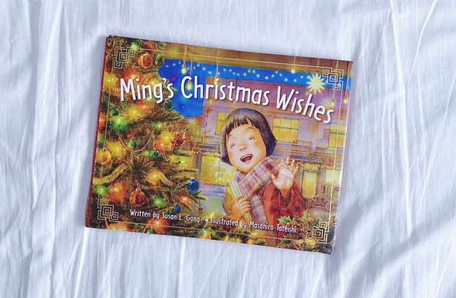 Book Cover: Ming's Christmas Wishes. Written by Susan L. Gong, and illustrated by Masahiro Tateishi